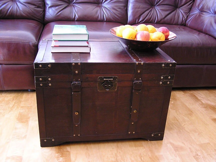 Wood Trunk Decorative Trunks Steamer Storage