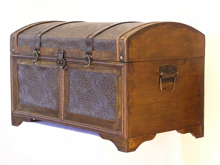 Wood Trunks And Chests ~ Wood trunk decorative trunks steamer storage